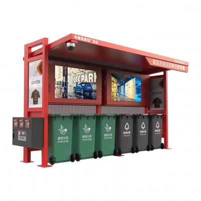 高清监控防电多功能智能垃圾分类亭