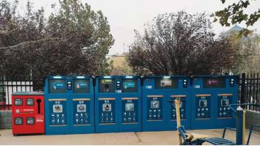 人脸识别厨余破袋投放加有害社区智能垃圾分类回收箱